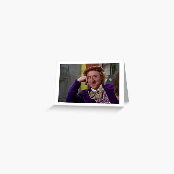 Wonka herablassend Grußkarte