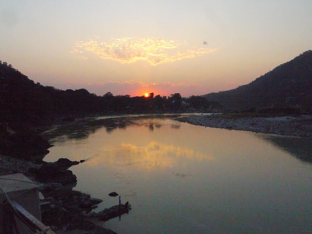 sunset over the ganges by josafeen