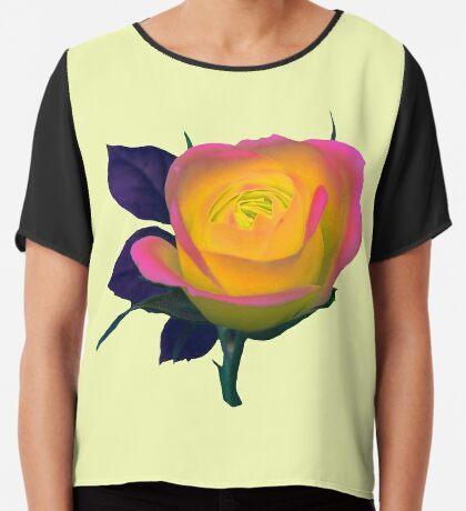 wundervoll leuchtende Rose Chiffontop für Frauen