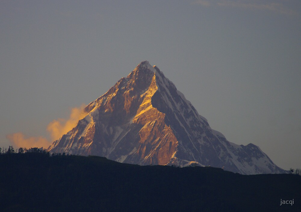 Machapuchare - the Sacred Mountain by jacqi
