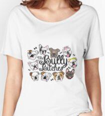 Camiseta ancha para mujer Las perras bully
