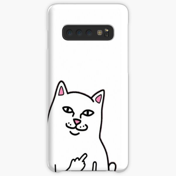 Cat Middle Finger Design Samsung Galaxy Snap Case
