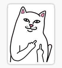Cat Middle Finger Design Sticker