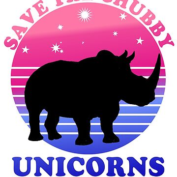 Save The Chubby Unicorns Purple by Greenbaby