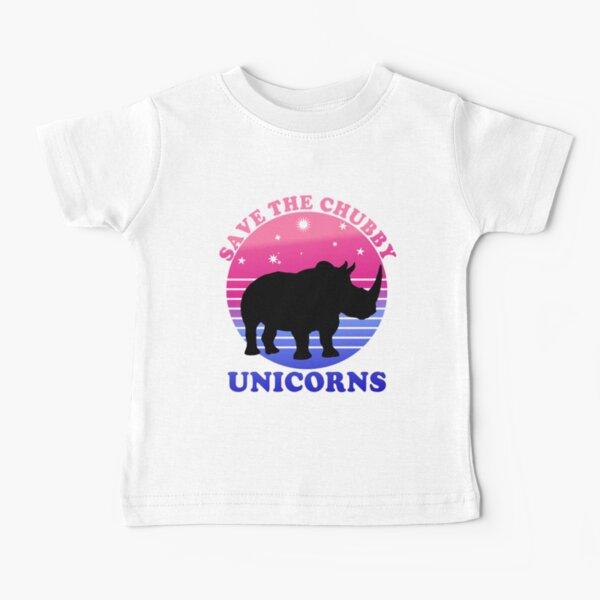 Save The Chubby Unicorns Purple Baby T-Shirt