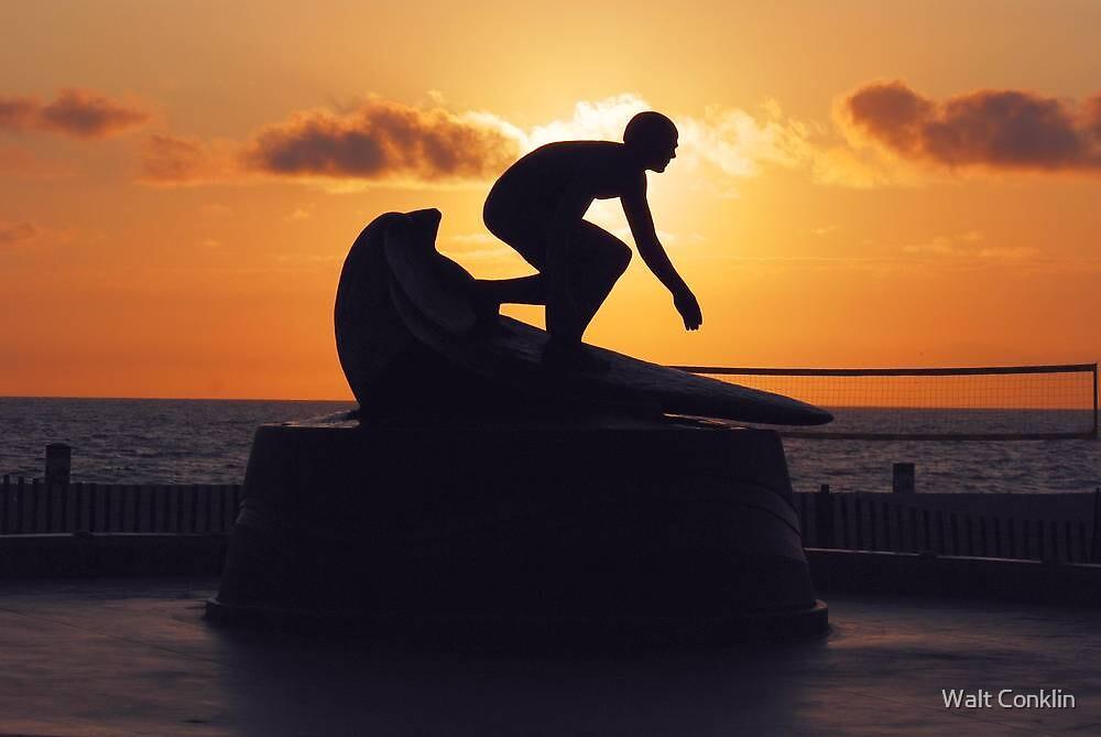Surfer Tim Kelly by Walt Conklin