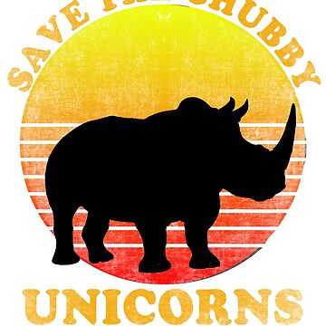 Save The Chubby Unicorns Distressed by Greenbaby