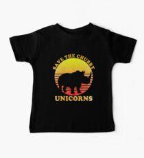 Speichern Sie die Chubby Unicorns Distressed Baby T-Shirt