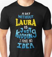 Best Friends Dearest Name Design Laura Unisex T-Shirt