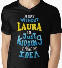 Best Friends Dearest Name Design Laura Men's V-Neck T-Shirt