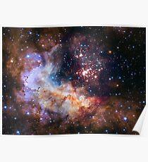 Póster ¡El 25to regalo de cumpleaños de Hubble para nosotros!