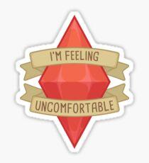 I'm Feeling Uncomfortable Plumbob Sticker