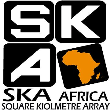 SKA South Africa Logo for Dark Colors by Spacestuffplus