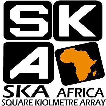 SKA South Africa Logo for Dark Colors by Spacestuffplus
