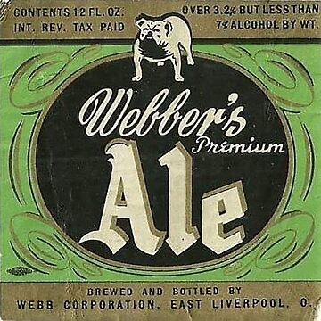 Webbers ALe bottle label by thatstickerguy
