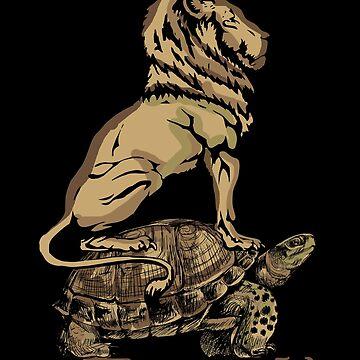 Turtle lion by GeschenkIdee