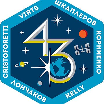 Expedition 43 Mission Patch by Spacestuffplus