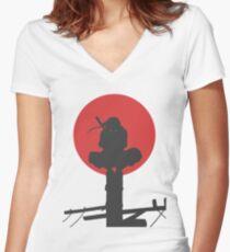 Uchiha Itachi Women's Fitted V-Neck T-Shirt