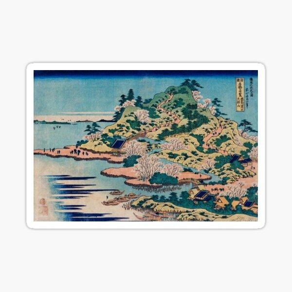 hokusai - landscape Sticker