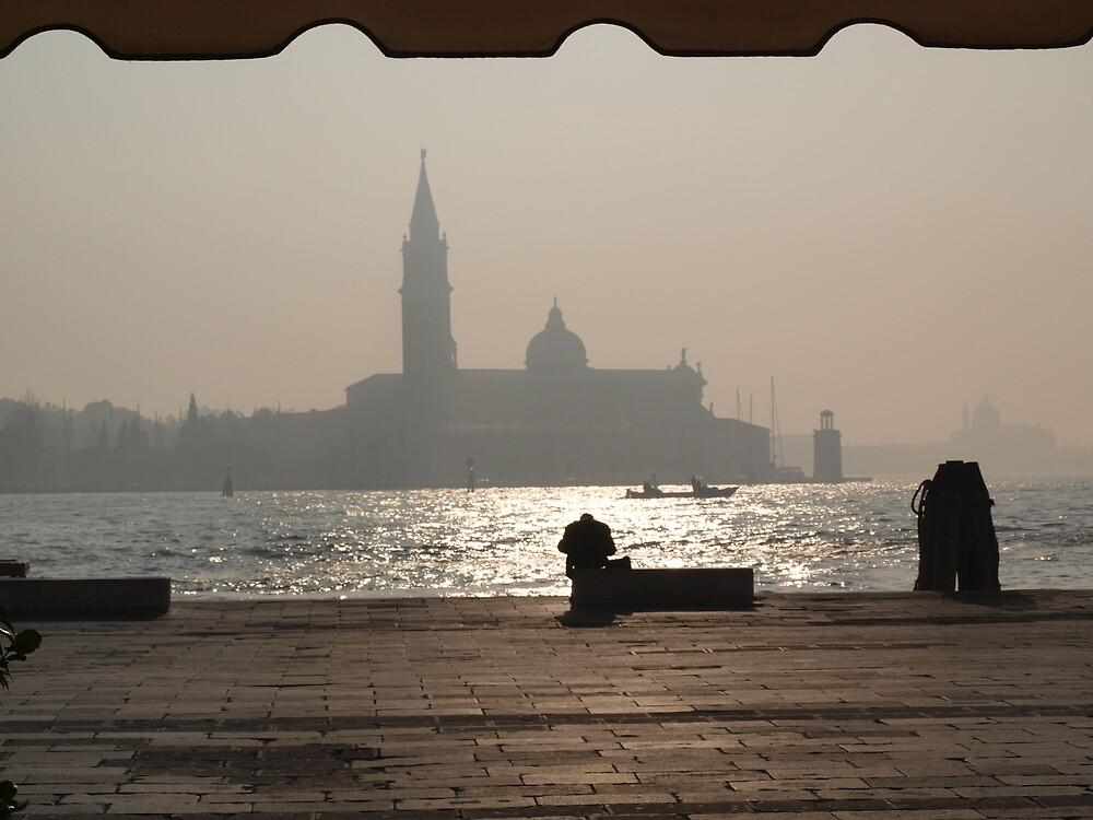 Waiting for sunset in Venice by primozomirp