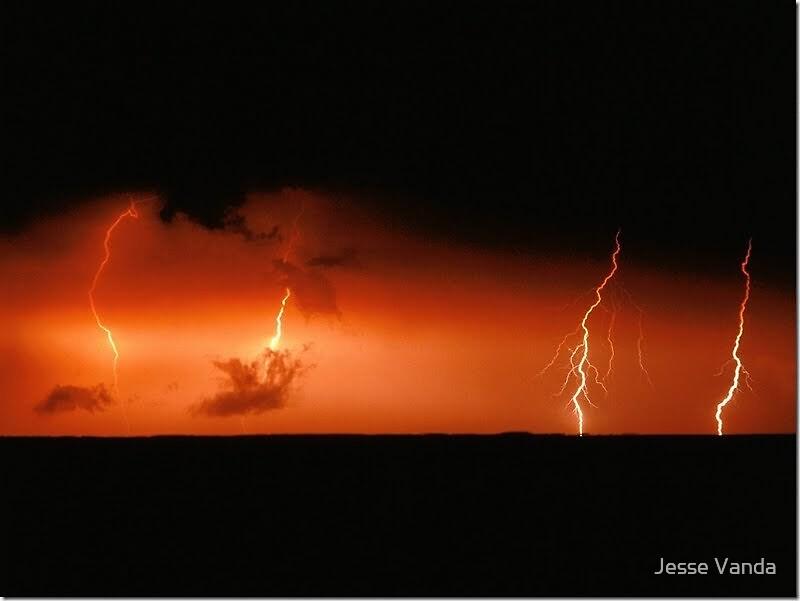 Fire in the sky by Jesse Vanda