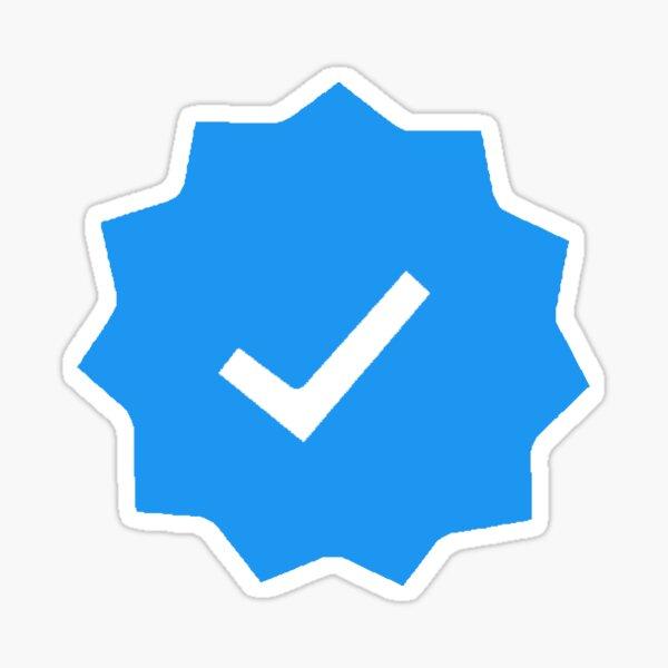 verified check mark - blue check Sticker