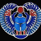Egyptian Blue Scarab by Walter Colvin