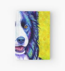 Colorful Border Collie Dog Hardcover Journal