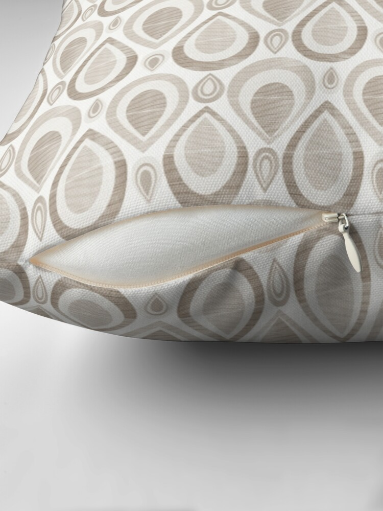 Alternate view of African Pattern - Sepia Throw Pillow