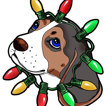 Beagle Christmas Lights Present Gift by Moonpie90