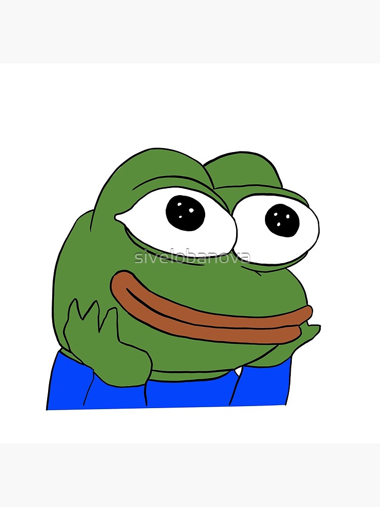 feelswowman happy wholesome pepe | Canvas Print