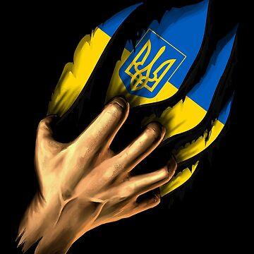 Ukrainian in Me Ukraine Flag DNA Heritage Roots Gift  by nikolayjs