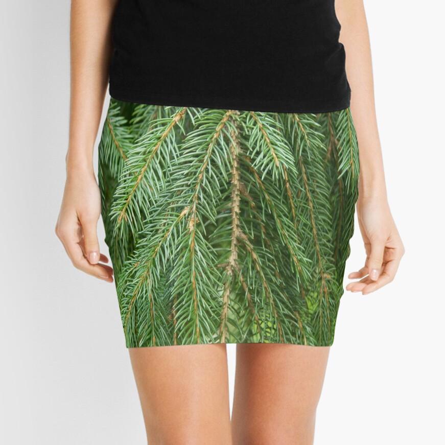 Pine Tree Closeup Mini Skirt