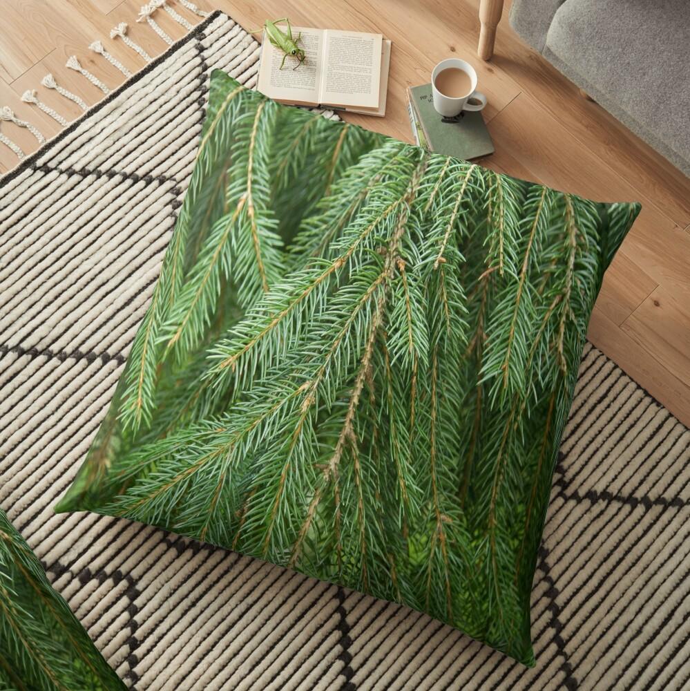 Pine Tree Closeup Floor Pillow