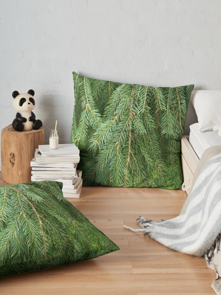 Alternate view of Pine Tree Closeup Floor Pillow