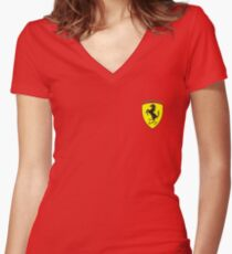 Ferrari  Fitted V-Neck T-Shirt