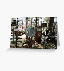 Elmer's Bottle Tree Ranch Route 66, California Greeting Card