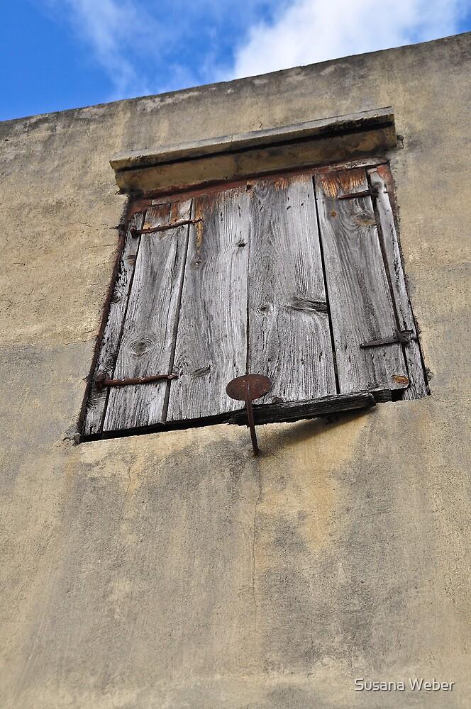 Shuttered window - St. Martin, DWI by Susana Weber