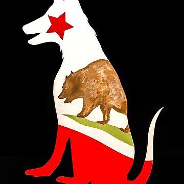 California Dog sticker by barryknauff