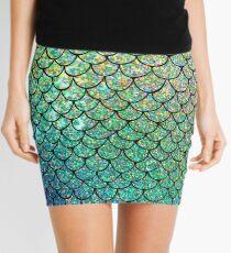 Bunte Glitter Mermaid Skalen Minirock