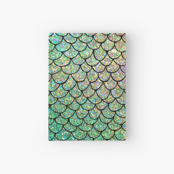 Colorful Glitter Mermaid Scales Hardcover Journal
