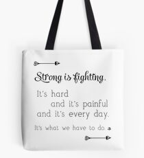 Strong Is Fighting Tote Bag
