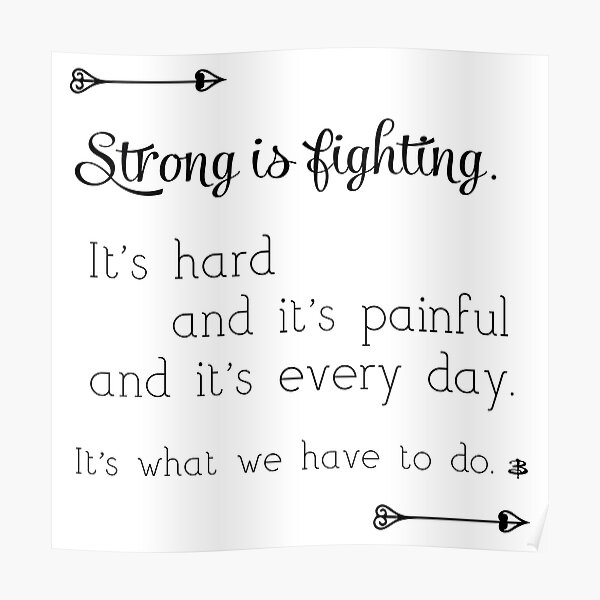 Strong Is Fighting Poster