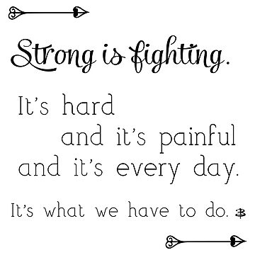 Strong Is Fighting by LieslDesign