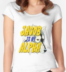 Jacob is my Alpha Twiliight Women's Fitted Scoop T-Shirt