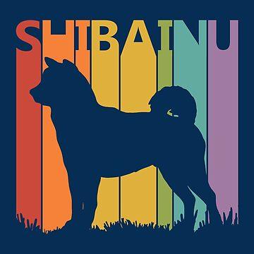 Funny Vintage Retro Shiba Inu by polveri