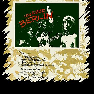 Lou Reed Berlin Shirt by RatRock