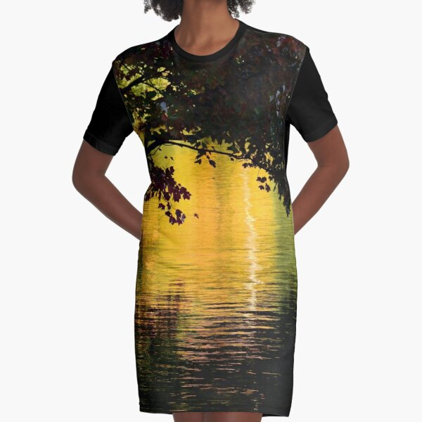 Near Dusk Graphic T-Shirt Dress