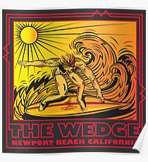 THE WEDGE NEWPORT BEACH CALIFORNIA Poster