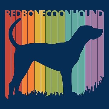 Funny Vintage Retro Redbone Coonhound by polveri
